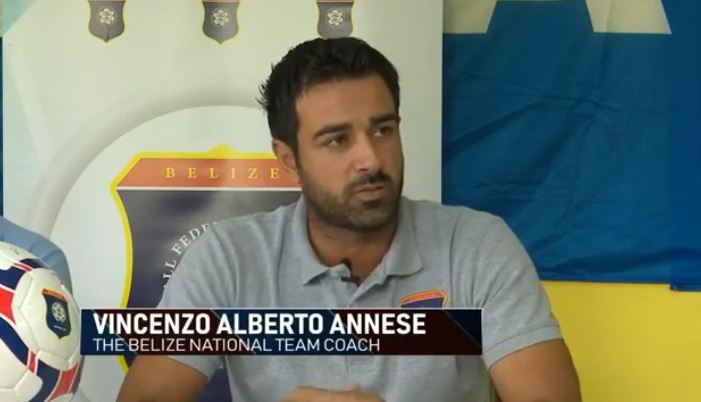 Pelatih Timnas Belize, Vicenzo Annsese. (Foto: Youtube).