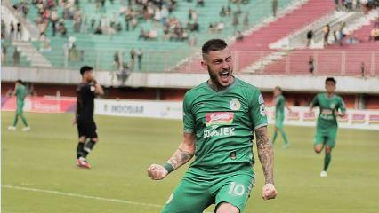 Striker PS Sleman, Yevhen Bokhashvili. (Foto: Instagram/@Jeka_Baha_10).