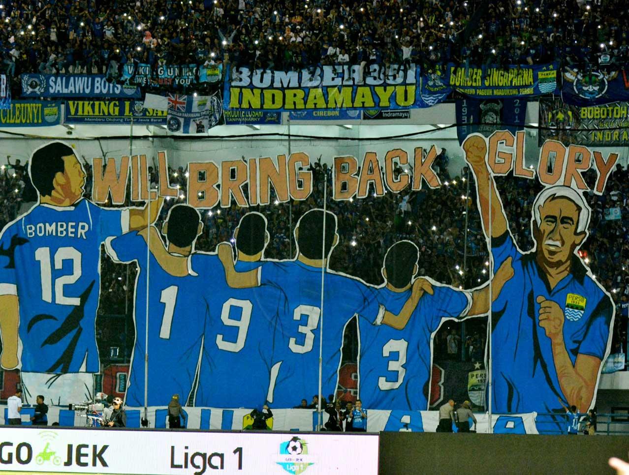 Suporter Persib Bandung. (Foto: Persib.co.id).
