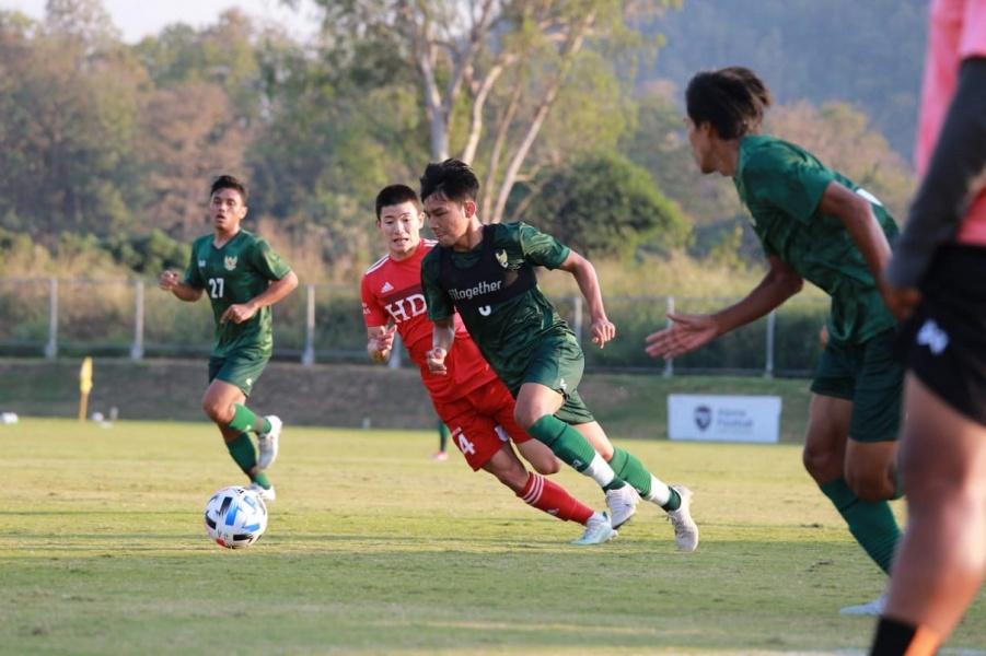 Pertandingan Timnas Indonesia U-19 vs Kyung Hee University. (PSSI).
