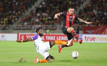 Yanto Basna dalam pertandingan melawan Bangkok United. (Foto: Prachuap FC).