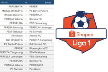 Draft jadwal Liga 1 2020.