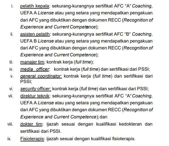 Regulasi Liga 1 2020 soal lisensi pelatih.