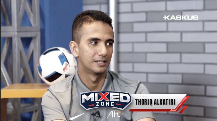 Thoriq Alkatiri dalam wawancara di Mixed Zone Kaskus. (Foto: Kaskus TV).