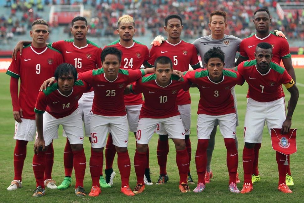 Skuat Timnas Indonesia dalam pertandingan melawan Kamerun 2015. (Foto: PSSI.org).