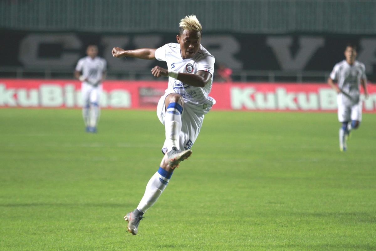 Striker Arema FC, Kushedya Hari Yudo. (Twitter/@Aremafcofficial).