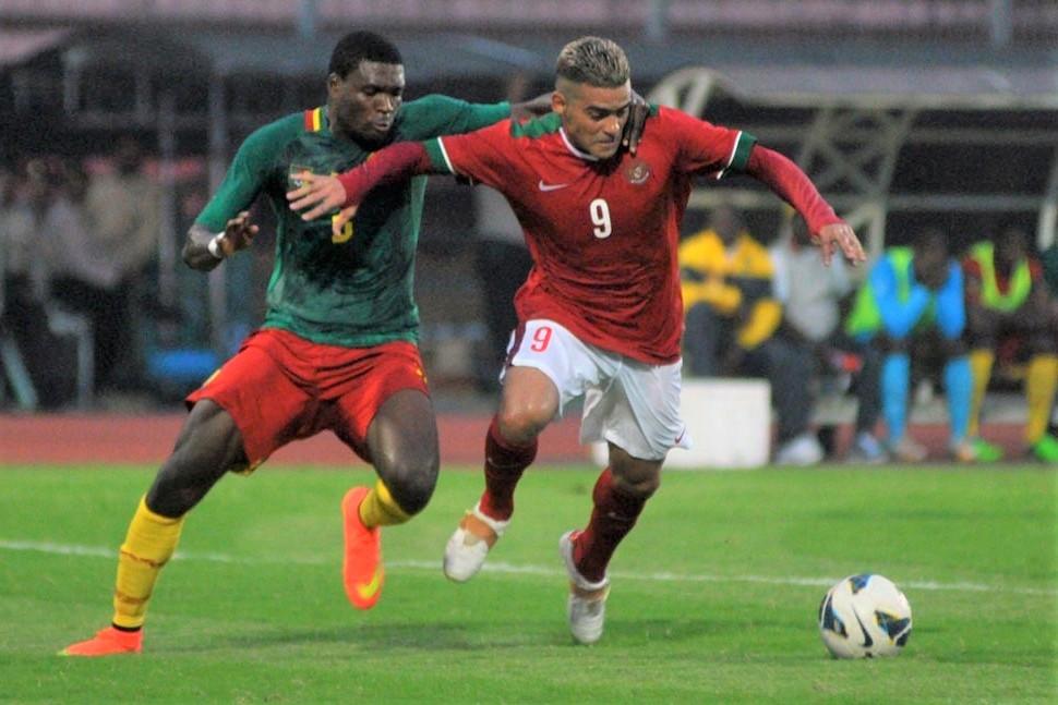 Timnas Indonesia vs Kamerun. (Foto: PSSI).