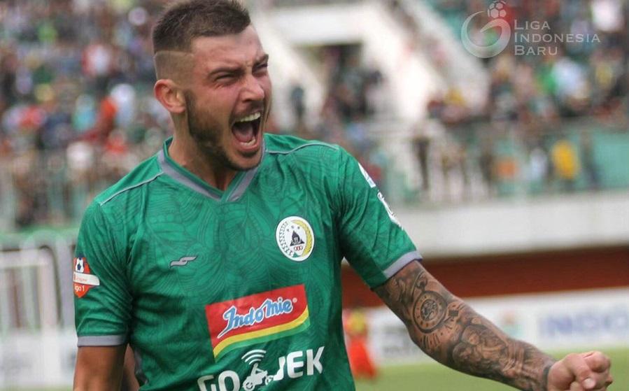 Striker PSS Sleman, Yevhen Bokhashvili. (Foto: LIB).