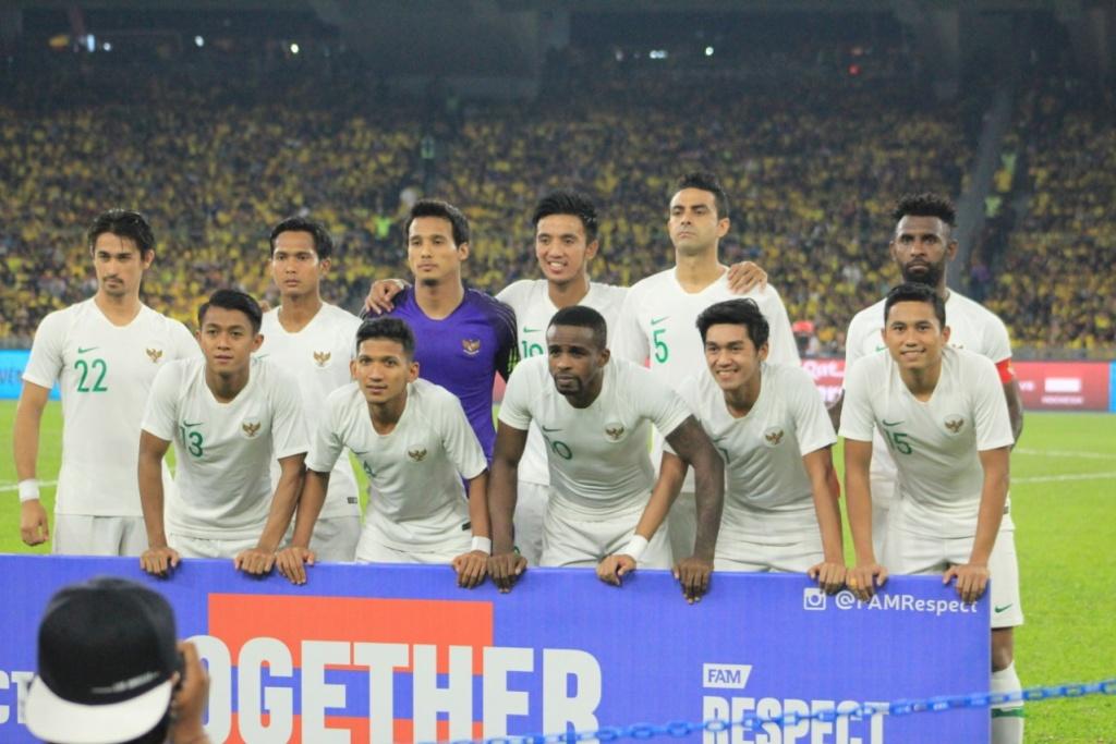 Timnas Indonesia saat menghadapi Malaysia di Stadion Bukit Jalil. (Foto: PSSI).