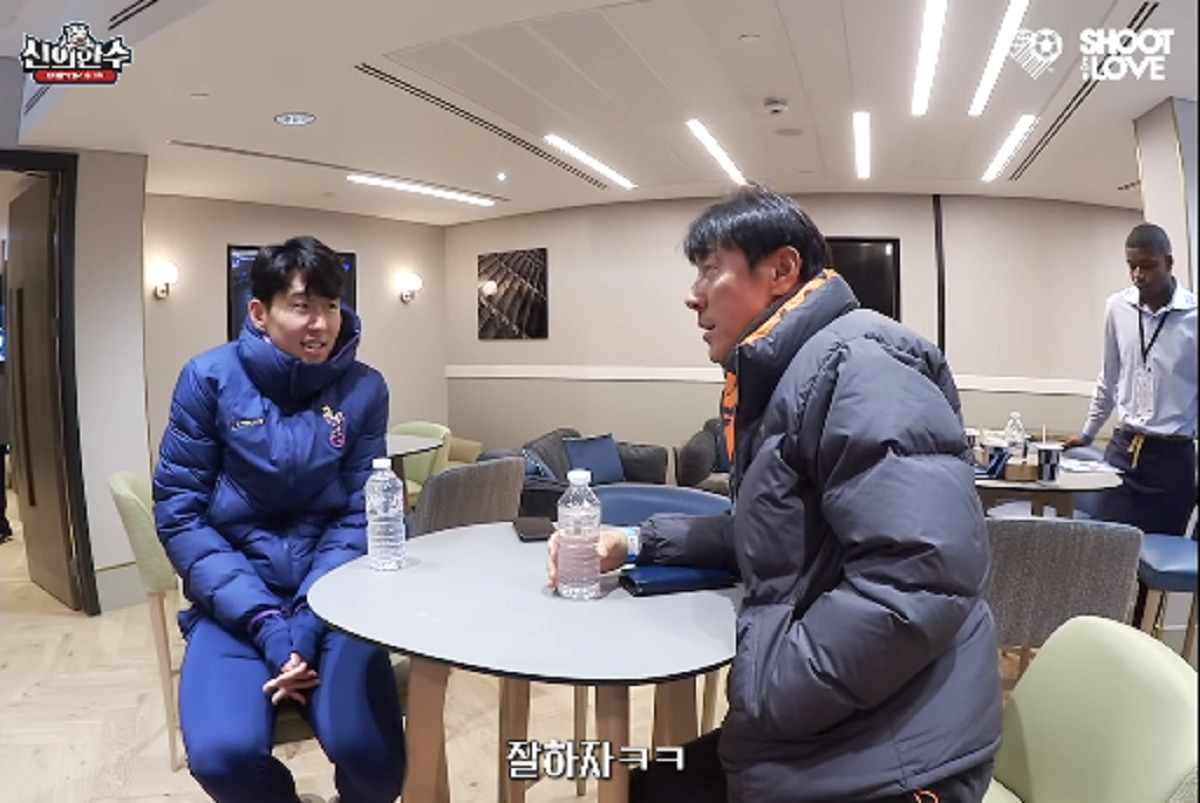 Son Heung-min dan Shin Tae-yong