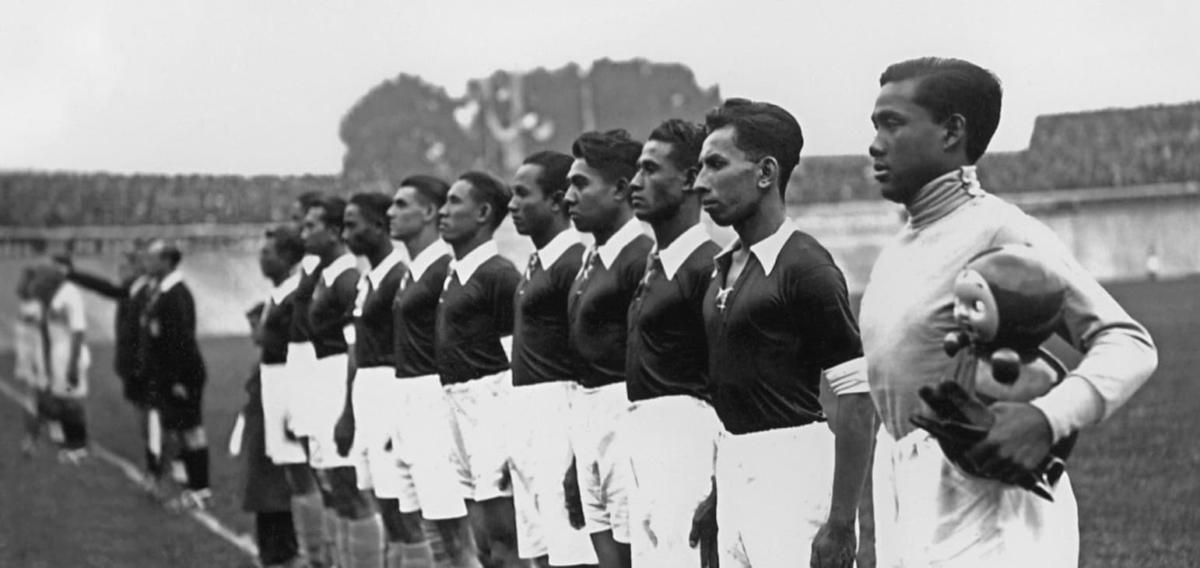 Hindia Belanda (Indonesia) di Piala Dunia 1938. (Foto: The-AFC).