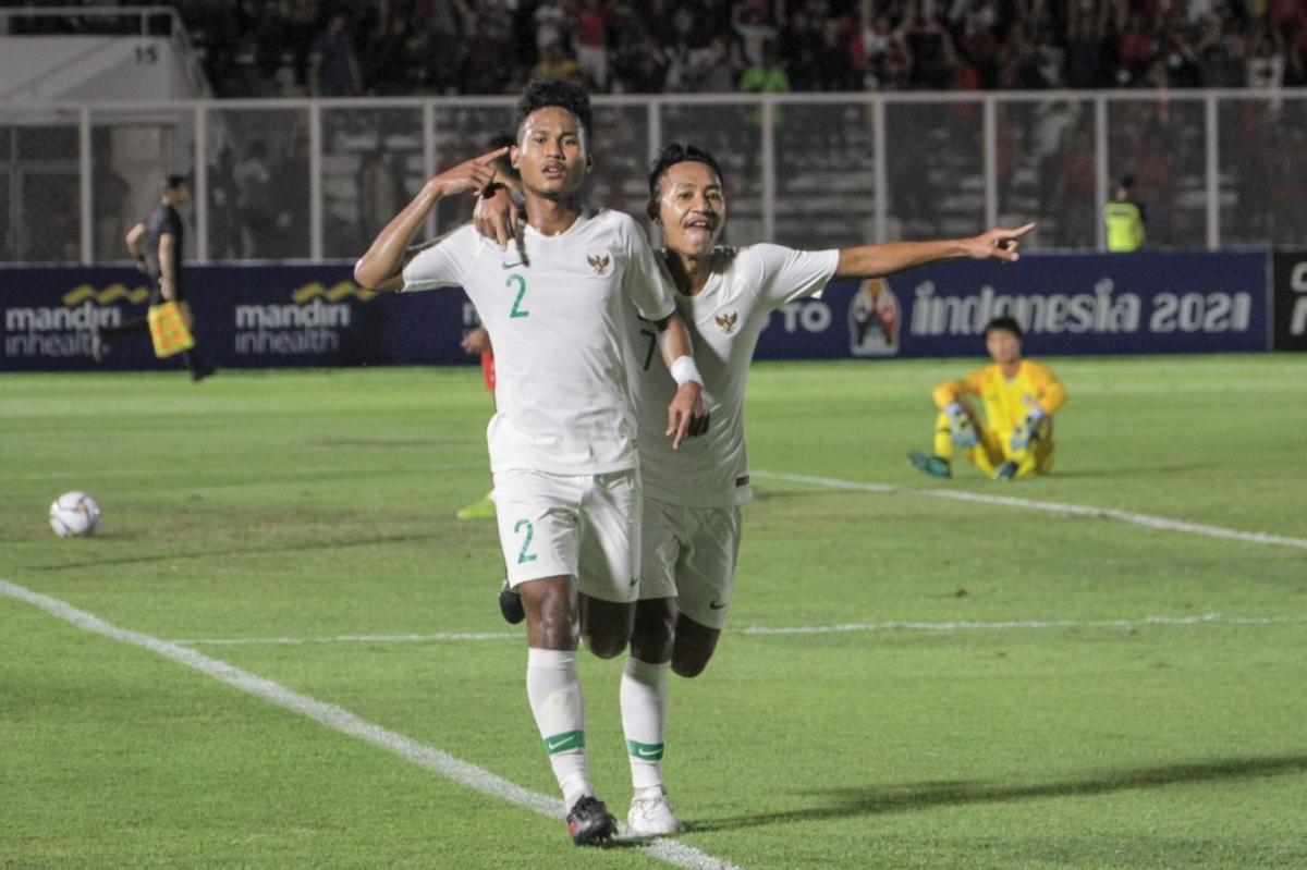Bek kanan Timnas Indonesia U-19, Bagas Kaffa. (Foto: PSSI).