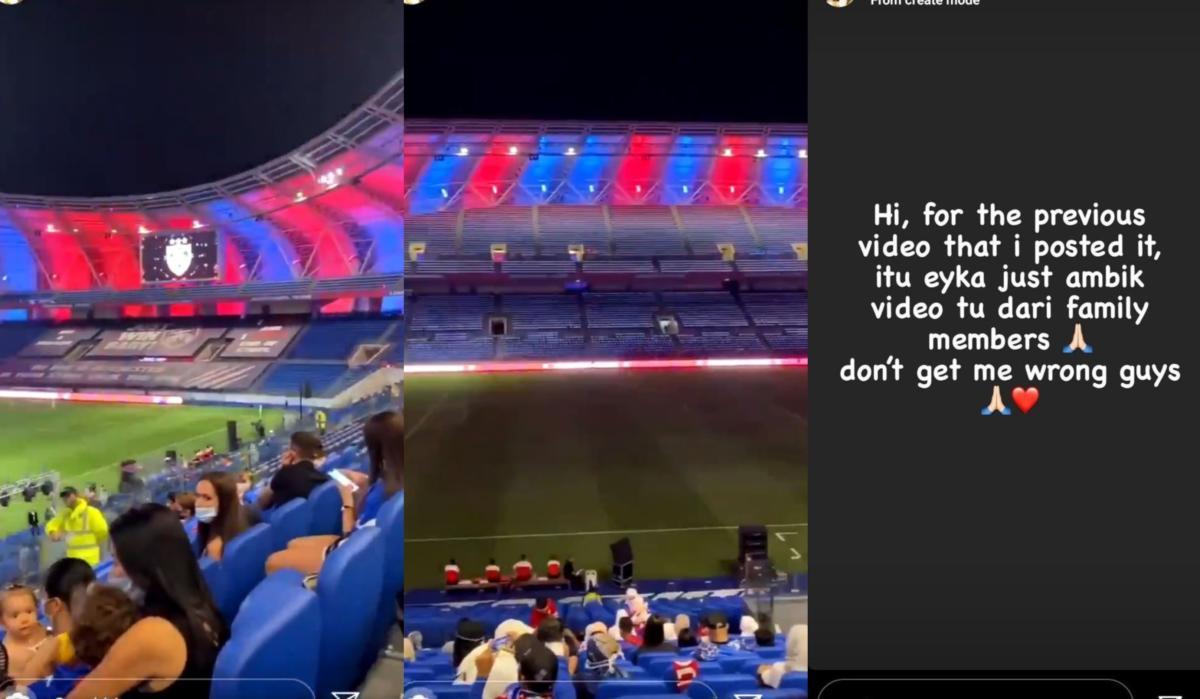 IG Story Eyka Farhana Dedahkan Kehadiran 'Penyokong' Ke Stadium, MFL Wajib Tampil Beri Penjelasan