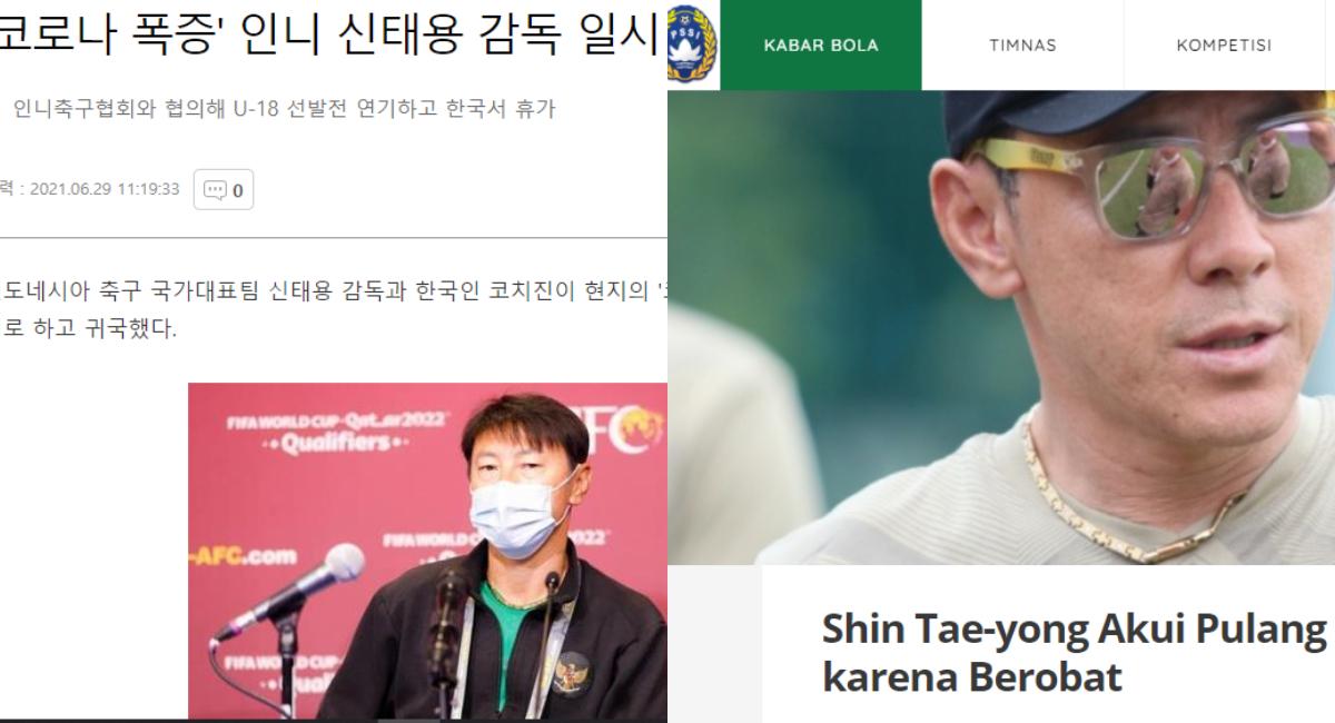 Shin Tae-yong berobat